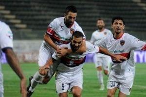 L'esultanza di Mendicino nel derby di Reggio Calabria (photo Rosito)