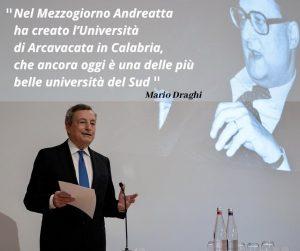 Mario Draghi - Unical - Andreatta